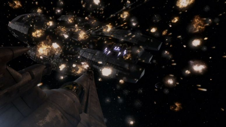 Battlestar Galactica Space Warfare