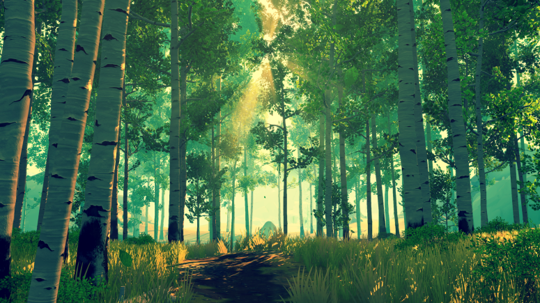 A Forest Scene from Firewatch the Game.