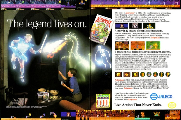 Astyanax Advertisement in Nintendo Power