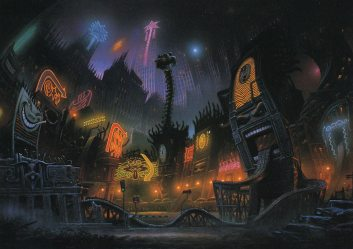 Cool World Matte Painting Background