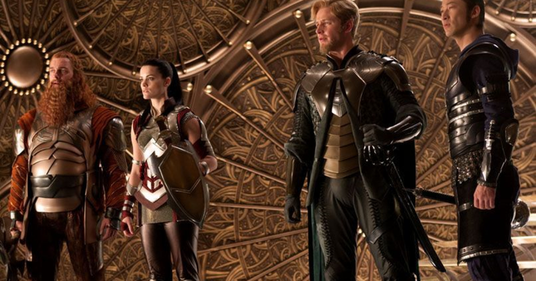 Sif and the Warriors Three in Thor (2011)