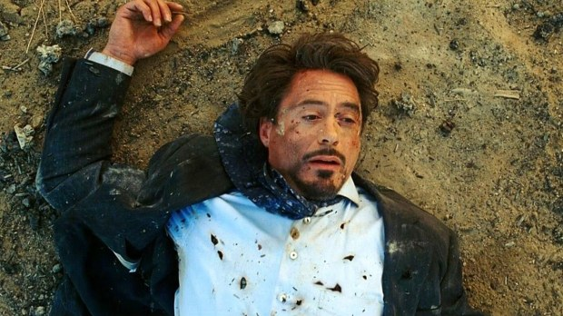 Tony Stark Afghanistan Bombing in Iron Man (2008).