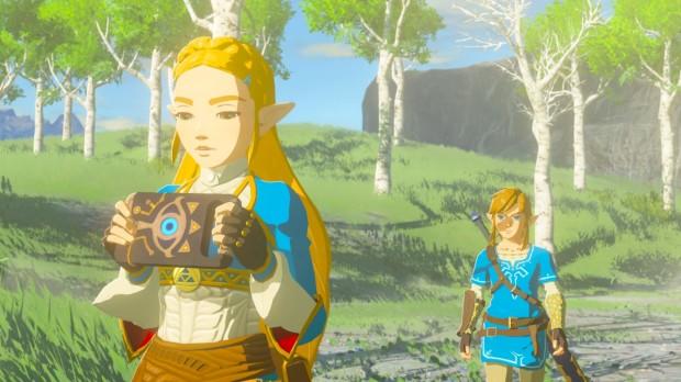 Zelda Holds the Sheikah Slate
