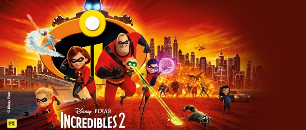 The Incredibles 2 banner.