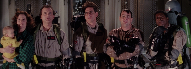 The ghosbusters and Dana save the day again.