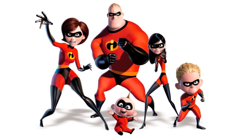 Elastigirl (Elen), Mr. Incredible (Bob), Violet, Dash, and Jack-Jack.