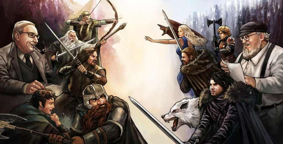 The Lord of the Rings versus Game of Thrones.