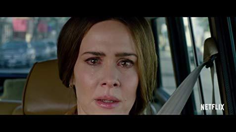 Cheryl sees the monster in Birdbox.